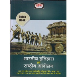 Drishti Publication [Bharatiya Itihas aur Rashtriya Andolan 2020 (Hindi) (Indian History and National Movements) Paperback]