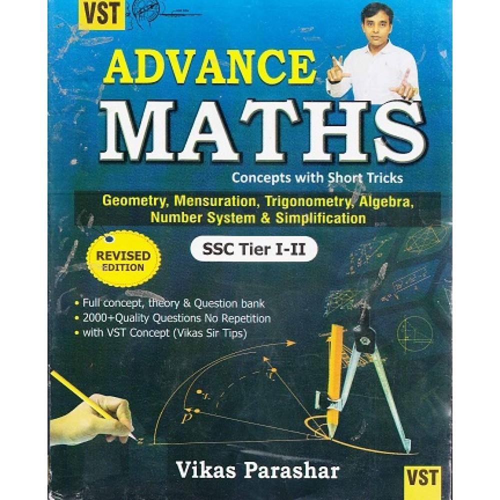Parashar Publication - VST- Advance Maths For SSC (CGL, CPO, CHSL, MTS)  Bank,CDS , Police, CSAT (English Paperback) By Vikas Parashar