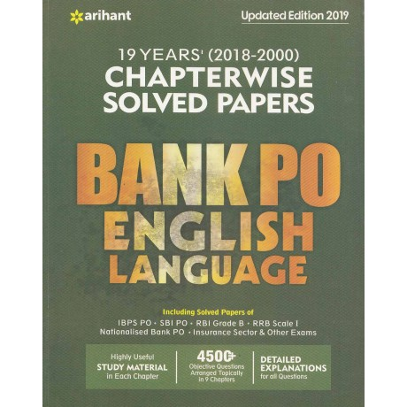 18 Years (2018-2000) Chapterwise Solved Papers Bank English ( Paperback) by Arihant Expert