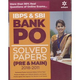 Arihant Publication PVT LTD IBPS &SBI PO BANK SOLVED PAPERS (PRE &MAINS 2011-2018 (Edited English ) BY TS Thakur (quantitativen Aptitude) &DC Aggarwal (Reasoning Ability ) Neeraj Bhatia (General  Awareness )