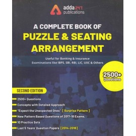ADDA 247 PUBLICATIONS PVT LMT ( A COMPLETE BOOK OF PUZZLE & SEATING ARRANGEMENT  USEFUL FOR BANKING & INSURANCE EXAMINATIONS LIKE IBPS , SBI , RBI , LIC , UIIC , & OTHERS 2500+ OUESTIONS EDITION ENGLISH)