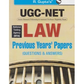 R GUPTA PUBLISHING HOUSE - POPULAR MASTER GUIDE ( UGC NET / NTA  LAW PREVIOUS YEARS PAPER ( Ouestion & Anwers )  2020 English )