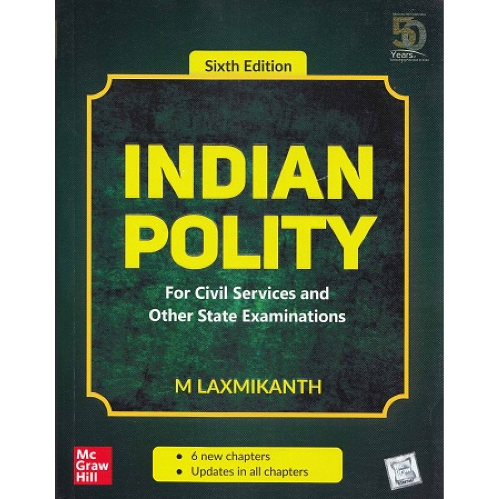 McGraw Hill Education [Indian Polity, 6th Edition, Paperback (English)] by M. Laxmikanth