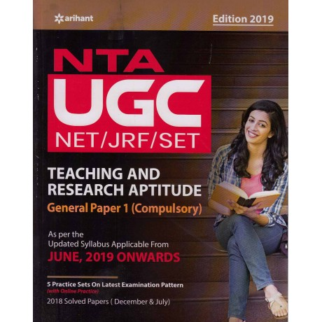 Arihant Publication PVT LTD [UGC Net/JRF/SLET, General Paper - I, (Teaching and Research Aptitude, 2019 Edition) Paperback] with Previous Years Solved Papers