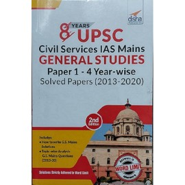 Disha Publication [IAS PCS MAINS GENERAL STUDIES  PAPER 1 - 4 YEAR  -  WISE  Examination (2013-2020) Topicwise Solved papers 8year, (English), Paperback]