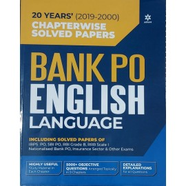 20 Years (2019-2000) Chapterwise Solved Papers Bank Po English Language ( Paperback) by Arihant Expert Team
