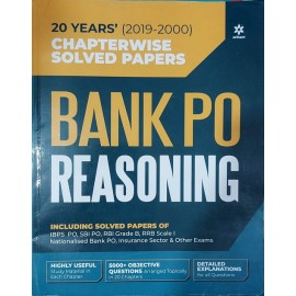 20 Years (2019-2000) Chapterwise Solved Papers Bank Po Reasoning (English) ,( Paperback) by Arihant Expert Team