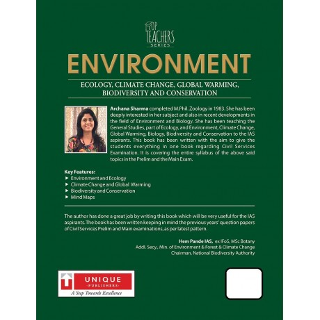 Unique Publication [Environment, Mind Maps Including (English) Paperback] by Archana Sharma