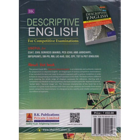 B. K. Publication [Objective General English for all Competitive Examinations (English), Paperback] by S. J. Thakur & S. K. Rout