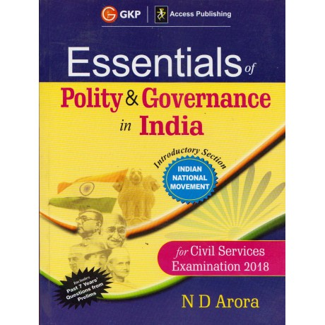 G.K.PUBLICATIONS  [Essentials of Polity & Governance in India, English, Paperback] by N D Arora