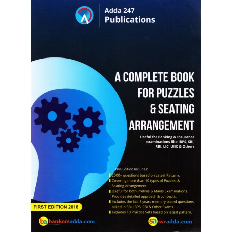 Adda 24 x 7 Publication - A Complete Book for Puzzles & Seating Arrangement (English, Paperback) by Bankers Adda