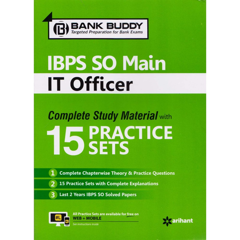 Arihant Publication PVT LTD [BANK BUDDY IBPS SO MAIN IT OFFICER Complete Study Material with 15 Practice Sets (English), Paperback]