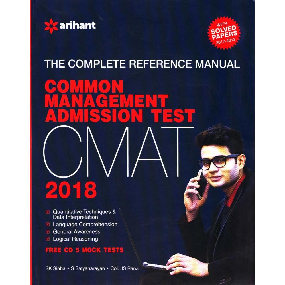 Arihant Publication PVT LTD [CMAT 2018 with Free CD 5 Mock Test (English), Paperback] by SK Sinha, S Satyanarayan & Col. JS Rana