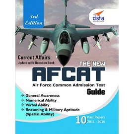 Disha Publication [AFCAT Guide + Current Affairs Update with Question Bank + 10 Past Papers 2011-2016 (English) Paperback]