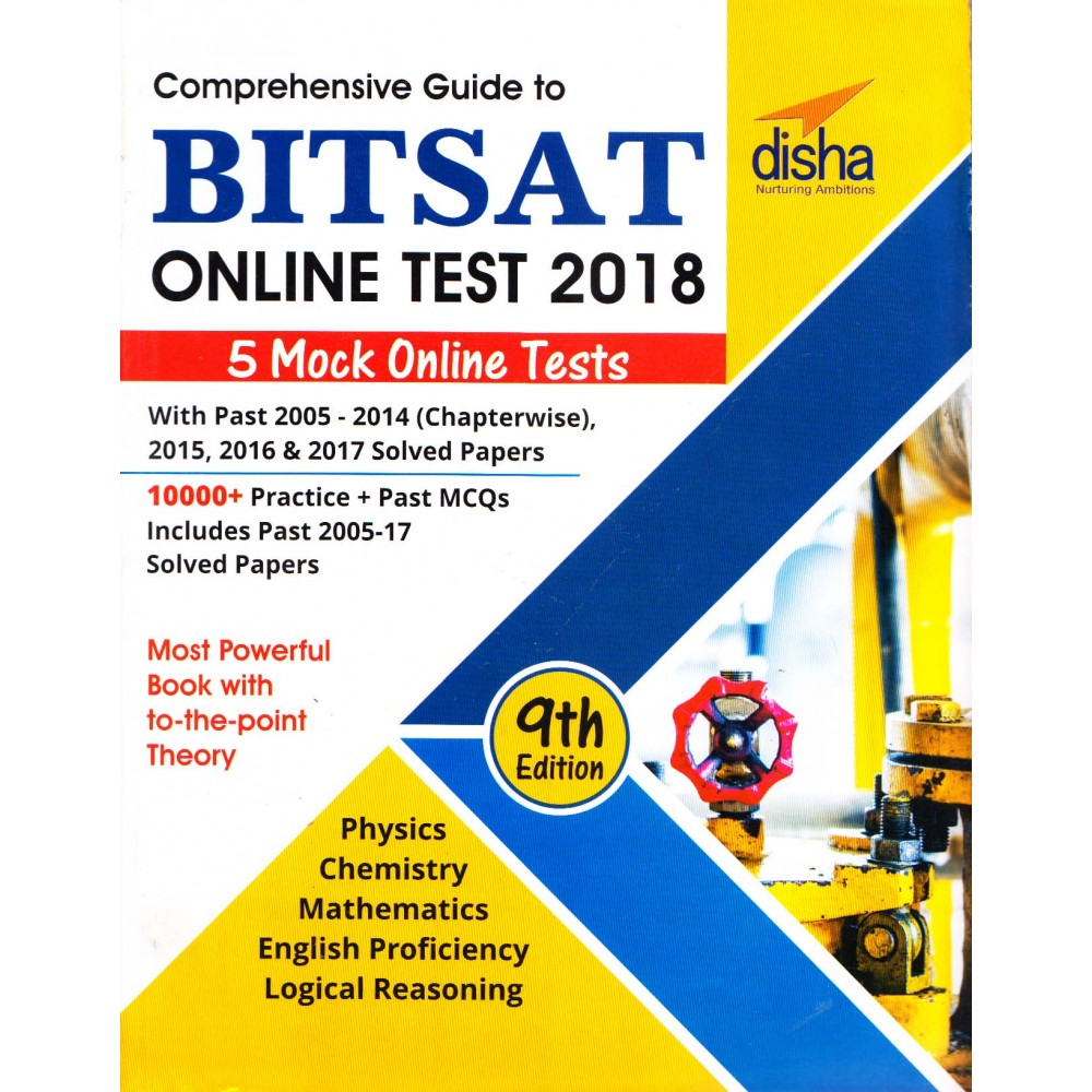 Disha Publication [Comprehensive Guide to BITSAT ONLINE TEST 2018 5 Mock Online Test with Previous Years 9th Edition (English), Paperback] Disha Team