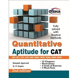 Disha Publication [Quantitative Aptitude for CAT (English), Paperback] by Deepak Agarwal & D. P. Agarwal