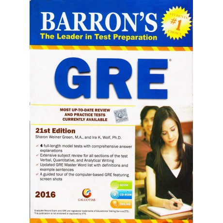 Galgotia Publication [GRE 21st Edition Book, CD ROM Online (English), Paperback] by BARRON'S