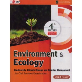 GK Publication [Environment & Ecology (Biodiversity, Climate Change and Disaster Management 4th Edition Revised and Updated (English), Paperback] by Majid Husain