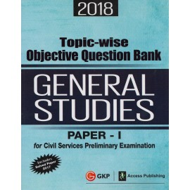 GK Publication [General Studies Topicwise Objective Question Bank 2018 (English) Paper - I, Paperback]