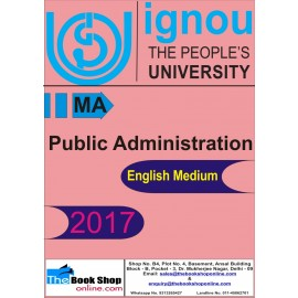 IGNOU - Public Administration, MA (English) Printed