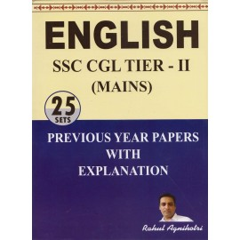 Jagmith Publication [ENGLISH SSC CGL TIER - II (Mains) 25 SETS Previous Year Papers with Explanation (Bilingual) Paperback] by Rahul Agnihotri