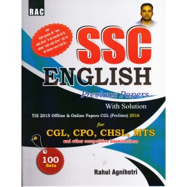 Jagmith Publication [RAC SSC English Previous Paper with Solution - CGL, CPO, CHSL, MTS, Paperback] by Rahul Agnihotri