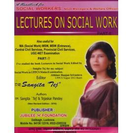 Jubilee 'H' Prakashan [Social Work Part - II (English) with Lectures Paperback] by Sangeeta Tej