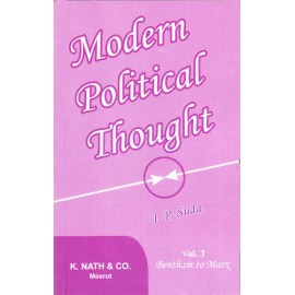K. Nath & Co. Meerut [Modern Political Thought (English), Vol. 3 Paperback] by J. P. Suda