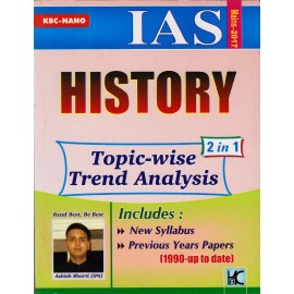 KBC Nano Publication [IAS History 2 in 1 Topic Wise Previous Years Question Papers 1990-2016 (English), Ist Edition, Paperback] Shyam SalonaI