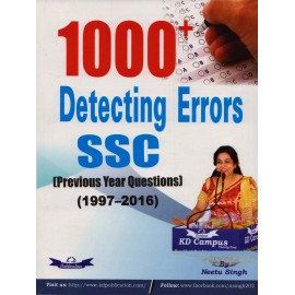 KD Publication [1000+ Detecting Errors SSC Previous Year Questions 1997-2016, Paperback] by Neetu Singh