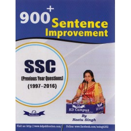 KD Publication [900+ Sentence Improvement SSC (1997-2016) Paperback] by Neetu Singh