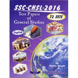 KD Publication, Delhi [SSC CHSL 2016 Test Papers of General Studies 72 Sets (English)] by Neetu Singh