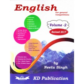 KD Publication [English for General Competitions Volume - 2 Revised 2017] by Neetu Singh