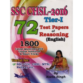 KD Publication [SSC CHSL 2016 Tier - I with 72 Test Papers of Reasoning (English) and 1800 Latest Question,  Paperback] by Neetu Singh