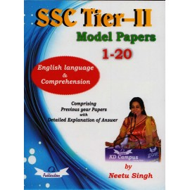 KD Publication [SSC TIER - II Model Papers 1 - 20 ENGLISH LANGUAGE & COMPREHENSION, Paperback] by Neetu Singh