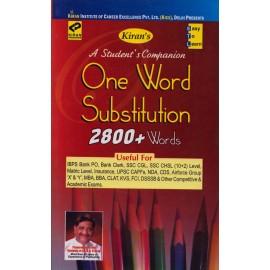 Kiran Publication PVT LTD [One Word Substitution 2800+ Words, Paperback]