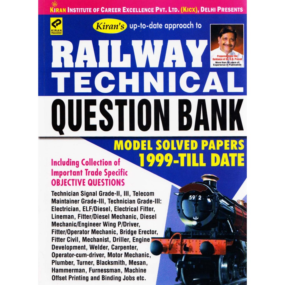 Kiran Publication - Railway Technical Question Bank Model Solved Papers 1999-till Date