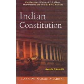 Lakshami Narain Agarwal Publication [Indian Constitution (English), Paperback] by Avasthi & Avasthi
