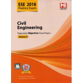 Made Easy Publication [ESE 2018 Prelims Exam Civil Engineering Topicwise Objective Solved Papers Vol. II (English), Paperback]