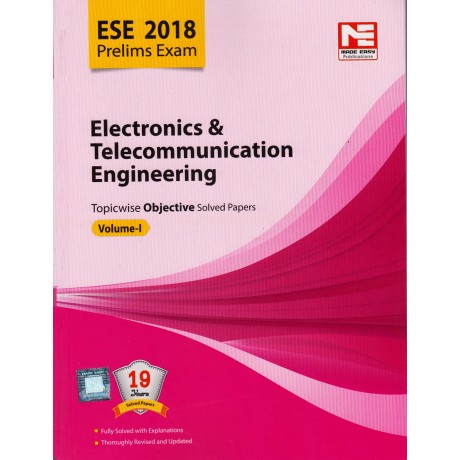 Made Easy Publication [ESE 2018 Prelims Exam (Electronics & Telecommunication Engineering) Topicwise Objective Solved Papers Vol. I (Hindi), Paperback]