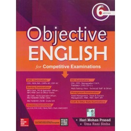 McGraw Hill Education [Objective ENGLISH for Competitive Examination 6th Edition, Paperback]- Author of - Hari Mohan Prasad & Uma Rani Sinha
