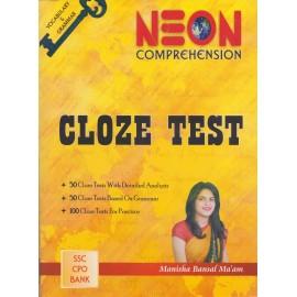 Neon Publication, Jaipur [CLOZE TEST, Paperback] by Manisha Bansal