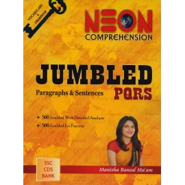 Neon Publication, Jaipur [JUMBLED Paragraphs & Sentences PQRS (500+ Jumbled with Detailed & 500 Jumbled For Practice, (Bilingual) Paperback] by Manisha Bansal