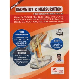 Paramount - Geometry & Mensuration (Advance Maths) Revised Edition 370 + Examples (English, Paperback) by Ramdev Bhati