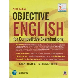 Pearson Publication [Objective English for Competitive Examinations 6th Edition (English), Paperback] by Edgar Thorpe and Showick Thorpe