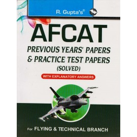 R. Gupta's Publication [AFCAT Previous Years' Papers & Practice Test Papers (Solved) (English) Paperback]