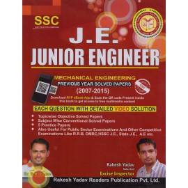 Rakesh Yadav Readers Publication [J.E. Junior Engineer (Mechanical Engineering) Previous Year Solved Papers (2007-2015) (English) Paperback] by Er. B. K. Yadav