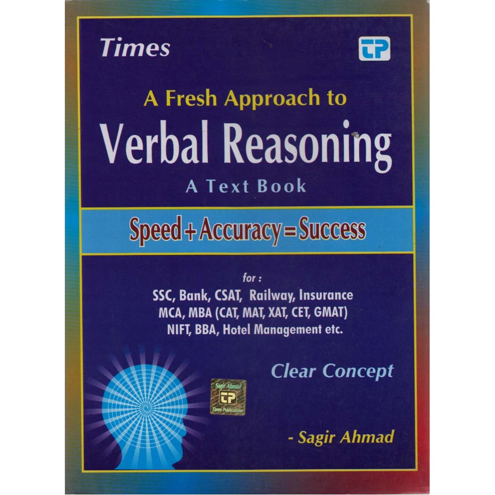 Times Publications [Verbal Reasoning A Text Book Speed + Accuracy = Success (Hindi), Paperback] by Sagir Ahmed