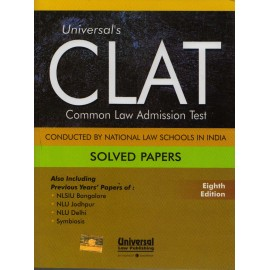 Universal Law Publishing [CLAT Solved Paper (English), Paperback] 8th Edition