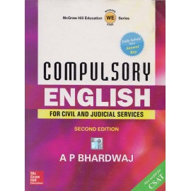 McGraw Hill Education Series [Compulsory English] for Civil and Judicial Services. Author - A P Bharadwaj